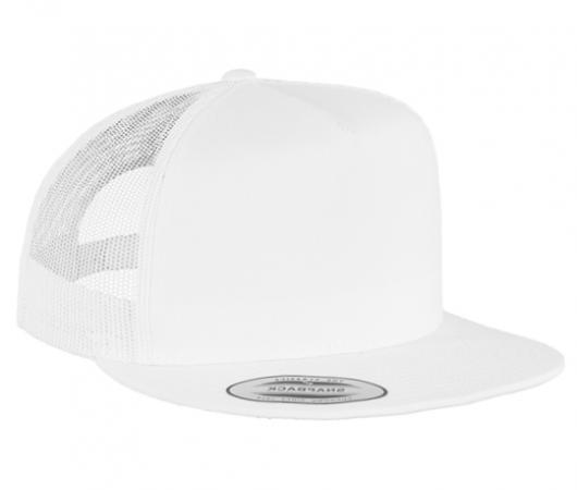 Casquette trucker Yupoong front tissu